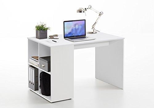 Wohnorama Gent Schreibtisch mit Regal von FMD Weiß by
