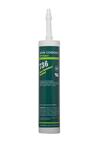 Dow Corning 2086433 736 Red Heat Resistant Sealant, -65 to 260 Degree C, 300 mL