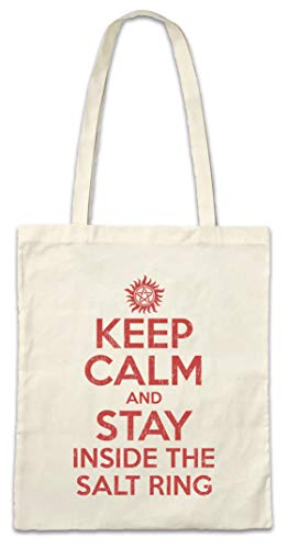 Urban Backwoods Keep Calm and Stay Inside The Salt Ring Hipster Bag Beutel Stofftasche Einkaufstasche