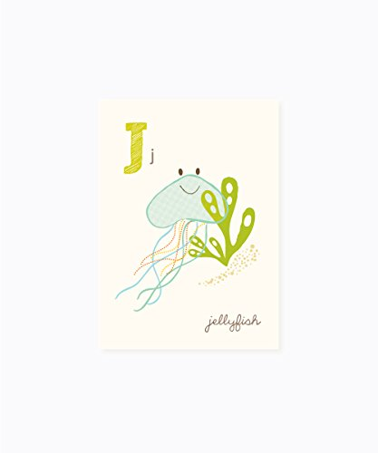 Sea Urchin Studio - J is for Jellyfish - ABC Alphabet Wall Art for Kids