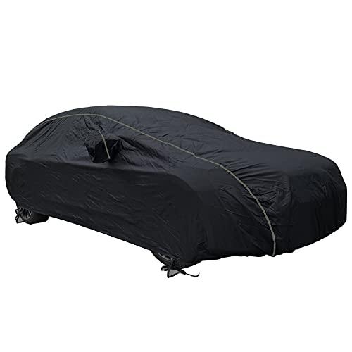 HVUFPPL Cubierta de automóvil Compatible con Rolls-Royce Ghost 2010-2018 Funda de Coche anticongelante Anti Sucio 100% Impermeable, Logotipo Personalizado