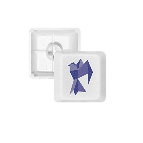 DIYthinker Púrpura Origami patrón de la Paloma Resumen PBT Nombres de Teclas de Teclado mecánico Blanca OEM No Marcado Imprimir R2