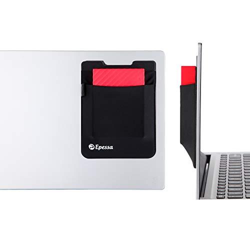Epessa マウスポーチ スティックオン式ノートパソコンオーガナイザー ポータブルストレージポケット 外付けハードドライブ用 スタイラス ペン ワイヤレスマウス ケーブル イヤホン MacBookとiPadに対応