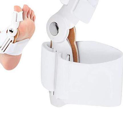 DEWIN Corrector de juanetes - Separadores de Dedos Corrector de juanetes para Adultos Separadores de Dedos ortopédicos Hallux Valgus Equipo de ortesis para Mujer Uso diurno/Nocturno 2 Piezas(Blanco)