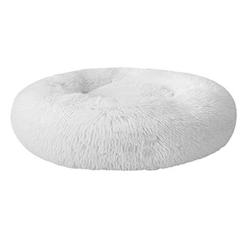 Festnight - Cama redonda de peluche para mascotas, para gatos, perros, cachorros, portátil, suave y cómoda, 40 / 50 / 60 / 70 / 80 / 100cm