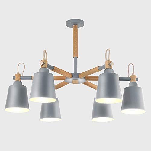 Lámpara colgante industrial Sputnik de 8 luces lámpara colgante moderna para lámpara colgante de granja brazos oscilantes ajustables acabado en negro y oro rosa