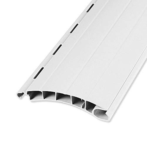 Rolladenstab Maxi 14 x 55 grau, weiß oder beige mit Lichtschlitzen 5 Stück 100 cm ROLATEC Set Rolladen Lamellen (weiß)