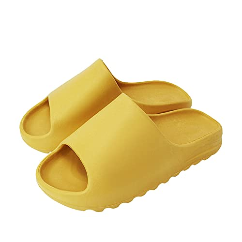 NUGKPRT ciabatte infradito,Beach Outdoor Comfortable Breathable Soft Slippers Men Women Indoor Bathroom Home Shoe Flat EVA Thick Sole Slides Summer Sandals 39-40 yellow