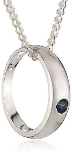 ZEEme Kinder und Jugendliche Halskette 925 Sterling Silber rhodiniert Saphir 38.0 cm blau 500243753-2