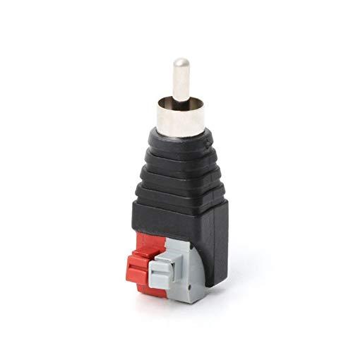 deYukiko luidsprekerkabel A/V-kabel voor audio-cinch-stekker adapter Jack LED licht zwart + rood + grijs