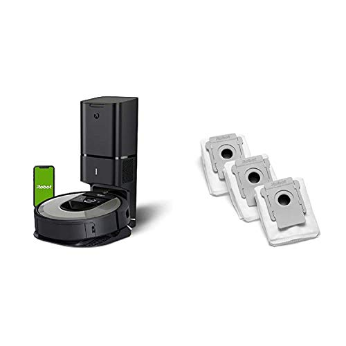 iRobot Roomba i6+ (6550) Robot Vacuum with Automatic Dirt Disposal-Empties Itself, Works with Alexa with iRobot Authentic Replacement Parts- Clean Base Automatic Dirt Disposal Bags, 3-Pack