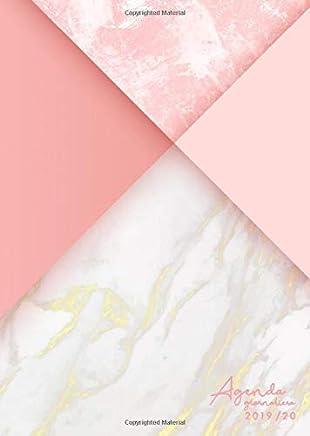 Agenda giornaliera 2019/20: Agenda settimanale 2019-2020 18 mesi - design: elegante marmo rosa