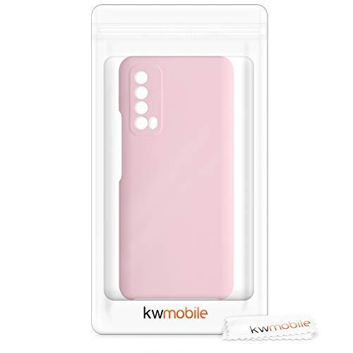 kwmobile Hülle kompatibel mit Huawei P Smart (2021) - Handyhülle gummiert - Handy Case in Rosegold matt