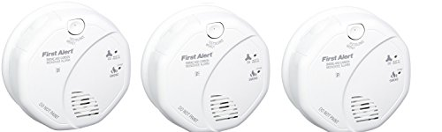 First Alert SCO5CN Combination Smoke and Carbon Monoxide Alarm, Battery Operated (3 PACK)