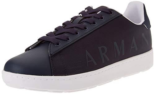Armani Exchange Mens Copenhagen Logo Low TOP Sneaker, Navy+Navy,40 EU