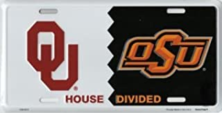Decor Time Oklahoma House Divided Metal License Plate