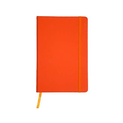 Projects Cuaderno Color-Line DIN A6, respetuoso con el medio ambiente, papel FSC, 192 páginas a rayas, tapa dura de poliuretano con tacto suave y marcapáginas y cinta de cierre, multiusos.