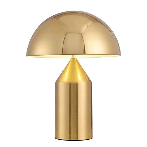 YSNJG Creative Skandinavische Metall E27 Tischlampe Moderne Licht Lampe Pilz Tischlampe Augenschutz Leselampe Schmiedeeisen Einfache Studie Schlafzimmer Nachttischlampe