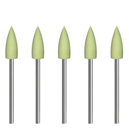 5x Polierer für Acrylglas 'Geschoss' [Ø 6 x 16 mm | fein] für Dremel, Proxxon