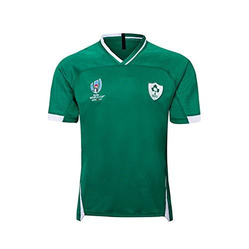 Rugby Trikot Fussball Trikot für Herren - 2019 WM Irland Home & Away Trikot S-3XL Casual Kurzarm T-Shirt Sportswear Fans Sweatshirt Gr. M, B