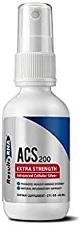 Results RNA ACS 200 Colloidal Silver Extra Strength | Advanced Cellular Colloidal Silver For Highly Effective Immune System Support - 2oz Bottle