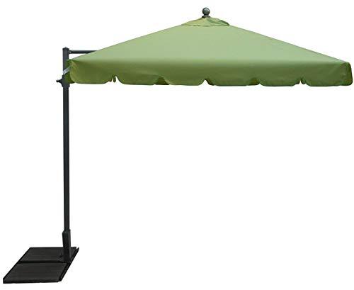 PEGANE Parasol rectangulaire déporté Coloris Vert - Dim : 250 x D 300 x 200/4 Baleines