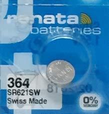 renata 1個 SR621SW 364 ボタン電池 1.55V (SR621SW) [並行輸入品]
