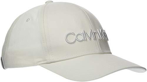 Calvin Klein Calvin Embroidery BB Cap Gorro/Sombrero, Blanco, One Size para Hombre