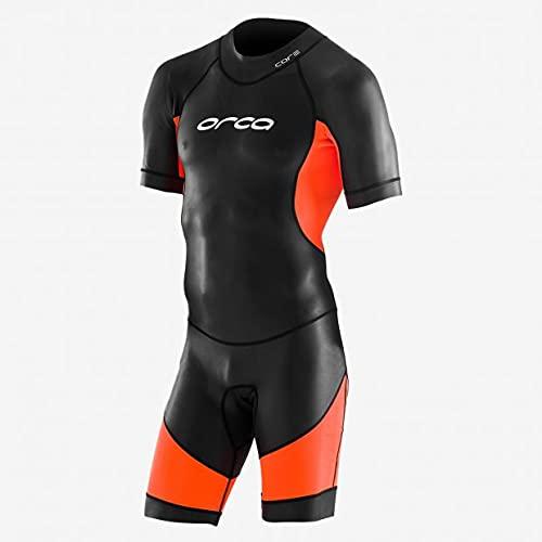 ORCA Openwater Swimskin Neoprenanzug Herren - schwarz/orange Größe 7
