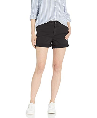 Goodthreads Chino Girlfriend Short Shorts, Negro, US 10 (EU M - L)
