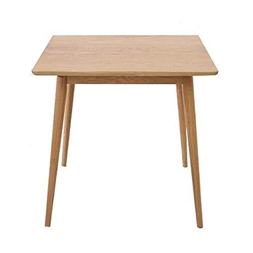 Decoración de muebles Mesa de comedor de cocina Mesa de comedor de madera simple nórdica Apartamento pequeño Mesa cuadrada para el hogar Mesa cuadrada Mesas Mesa de centro de estilo japonés (Color: