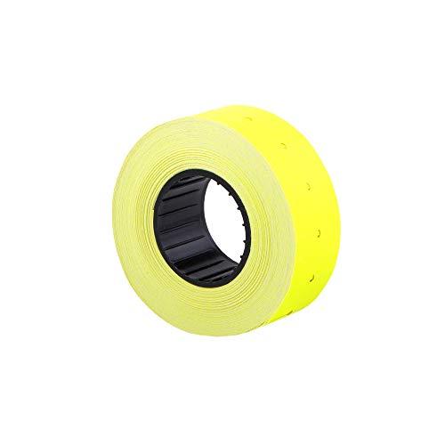 (10 rollos) Amarillo 21 x 12 mm Etiqueta adhesiva de papel de color Precio Pistola Etiquetas de marcador de precios MX-5500