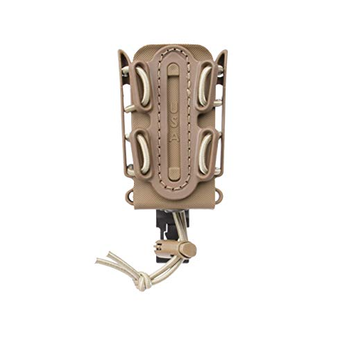 G-CODE (TAN) Soft Shell Scorpion -Short- Pistol Mag Carrier with P1 molle/Stacking Clip 100% Made in The USA (1153-1C)