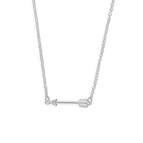 Sterlingsilber & Echter Diamant 45,7 cm (18 Inch) Pfeil Halskette