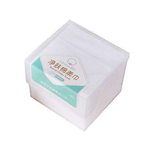 50Pcs/Boîte Jetable Coton Serviette Lavage Visage Coton Coussinets Amovibles Tissu Cosmétique Outil de Maquillage Mouillé et Sec Chiffon Avec Stockage de Tissu Visage Cxjff