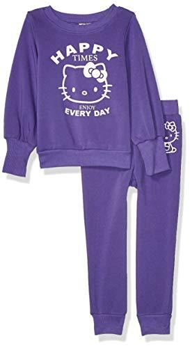 Hello Kitty Mädchen Girls 2 Piece and Pant Active Set Sweatshirt, Ultra Violet, 2 Jahre