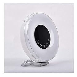 Alarm Clock Heavy Sleepers Bedroom Kids Desk Clocks Electric LED Large Digital Display FM Radio Nature Sounds Sunrise Night Light