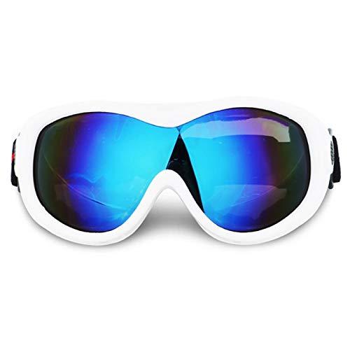 Ski Goggles Double Uv400 Anti-Fog Large Ski Mask Ski Goggles Men and Women Snowman Ski Goggles White