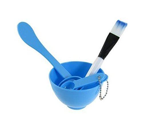 6 in 1 Demarkt make-up DIY gezichtsmasker werggereedschap huidverzorging sleutel penseel spatel lepel homemade masker bowl, blauw