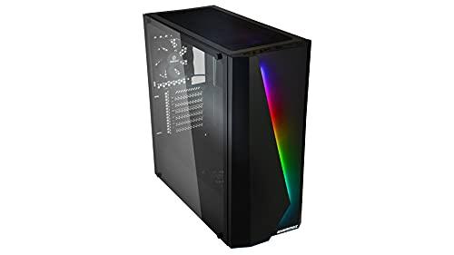 ENERMAX MAKASHI MK50 - PC Gaming E-ATX Gehäuse mit gehärtetem Glas Seitenwand und ARGB Frontbeleuchtung inkl. 12cm Rearlüfter; ECA-MK50BB-ARGB, schwarz