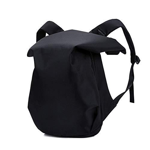 Faus Koco Tela Impermeable Negro Aspecto Irregular Moda Mochila Al Aire Libre Tendencia Deportes Al Aire Libre Bolsa De Viaje Hombres Y Mujeres Mochila Computadora