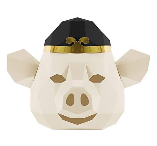 BaiXing Máscara viaje creativo for el cerdo máscara de ocho anillo de papel de Origami DIY mueren Conjunto divertido de Halloween de la cara llena COS partido de la máscara mascarada tamaño tocados: 3