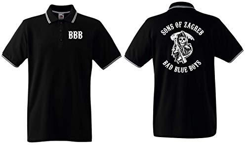 Sons of Zagreb Herren Polo-Retro Bad Blue Boys Dinamo Ultras