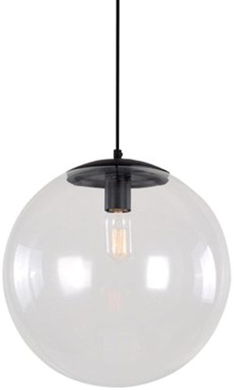 Rishx Moderne nordic Art Deco Glas Pendelleuchte Leuchten Küchen-LED-LED Klarglas Deckenaufhngung Laterne (Gre   Diameter 25cm)