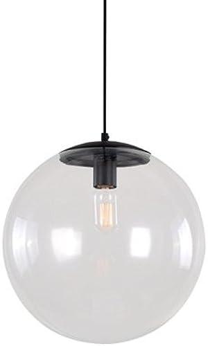 Rishx Moderne Nordique Art Déco Pendentif En Verre Lampe Luminaires Cuisine Restaurant LED Clair En Verre Plafond Suspension Lanterne (Taille   Diameter 30cm)