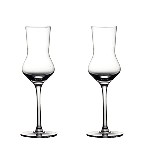 QiHaoHeji Copa de Vino Tinto de Cristal de Cristal de Cristal de Cristal de 120 ml Copas de Vino (Color : 2 PCS, Size : 17.2x4.8cm)