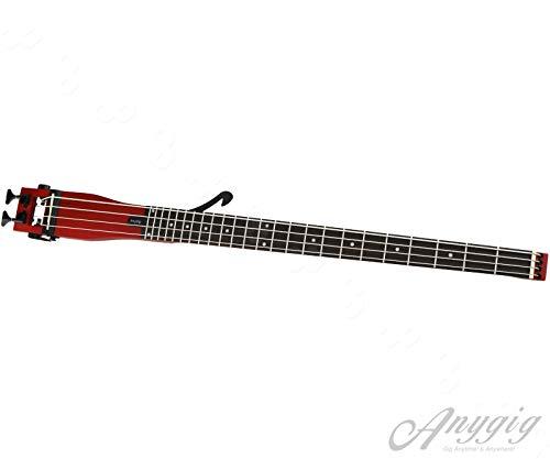 Anygigベースギターポータブルバックパッカートラベルギター4弦34インチスケールチェリー