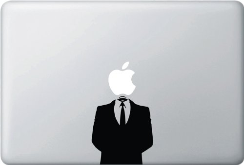 """Yadda-Yadda Design Co. Anonymous Suit - (Variable Sizing Available) MacBook Vinyl Decal Sticker (15"""" MacBook)"""