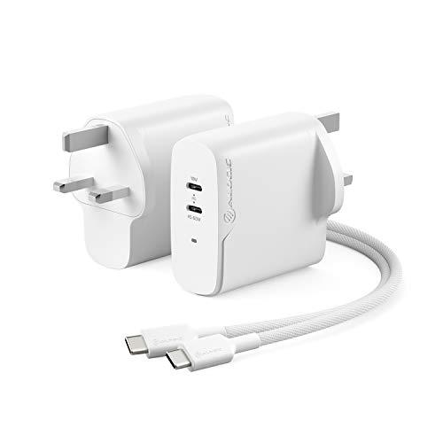 ALOGIC de 63 W con tecnología GAN Fast Cargador de Pared USB-C, Cargador PD Power Delivery 3.0 para computadora portátil, teléfonos Inteligentes y más