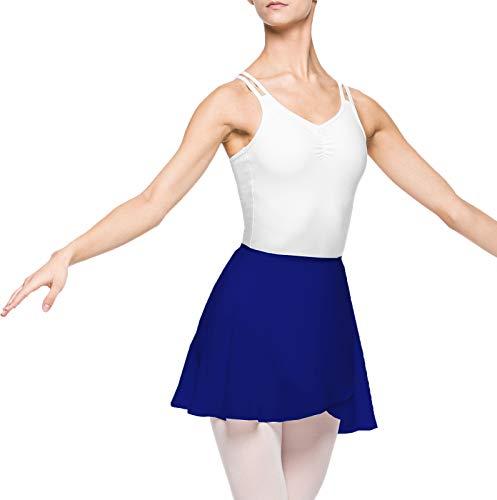 Arabesque Damen Ballett Wickelrock Ballettrock 2007 (L, Blau)